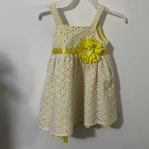 Rare Editions Yellow Babygirl Sundress 18 months.